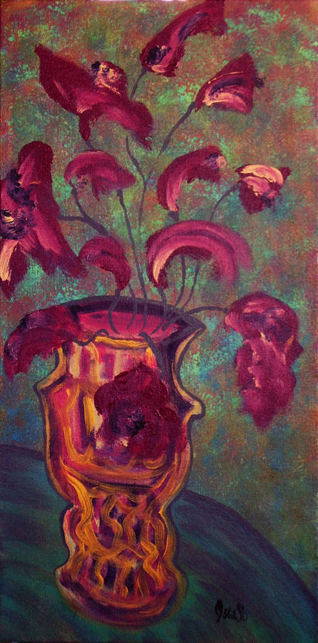 Art Painting - Romantic Vase  by Oscar Penalber