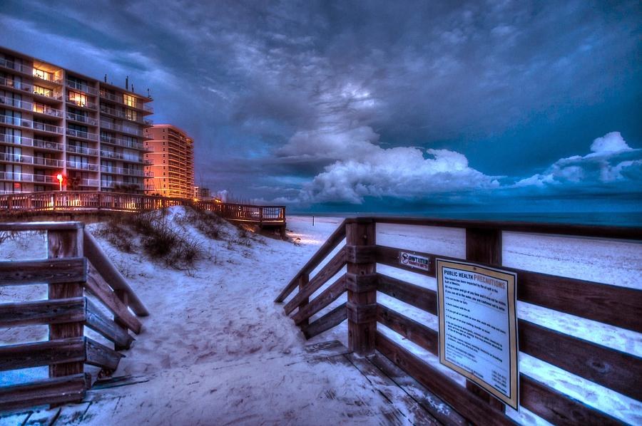 Romar Beach Clouds Digital Art  - Romar Beach Clouds Fine Art Print