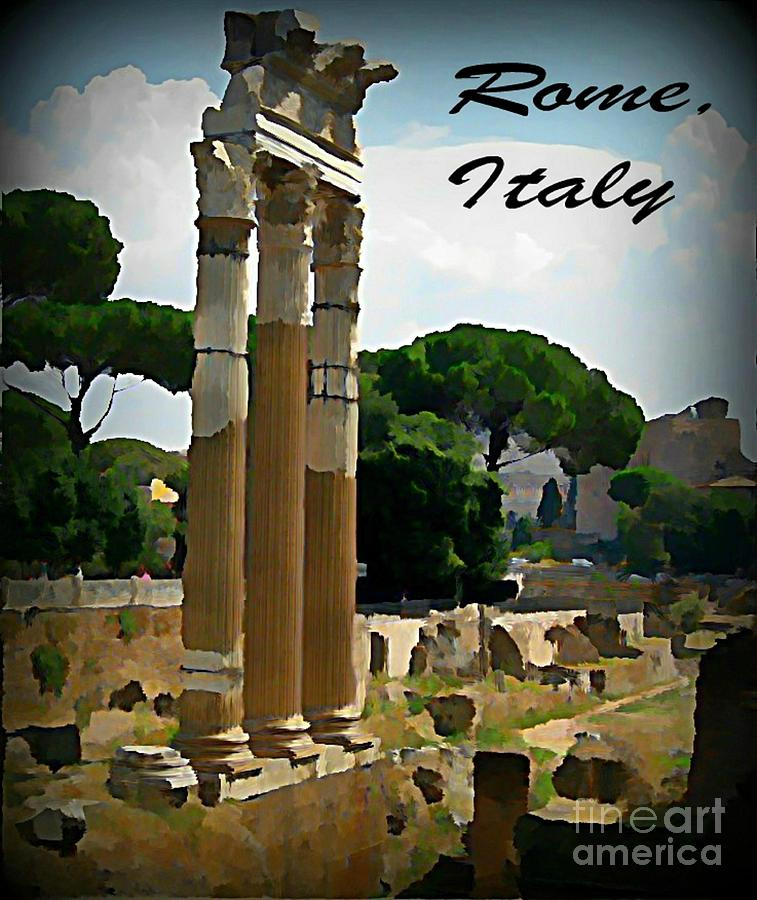 Rome Italy Poster Painting