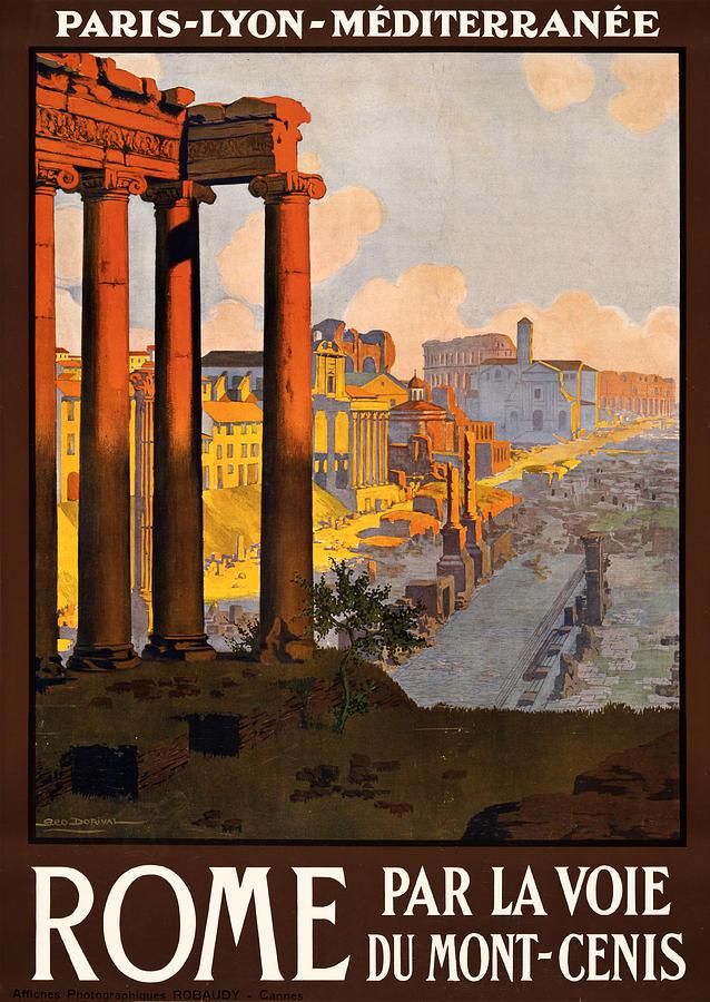 Rome Digital Art - Rome Par La Voie Du Mont-cenis by Georgia Fowler