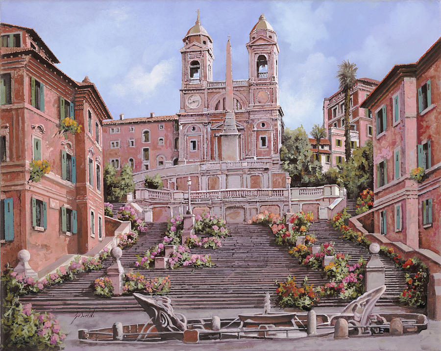 Rome-piazza Di Spagna Painting