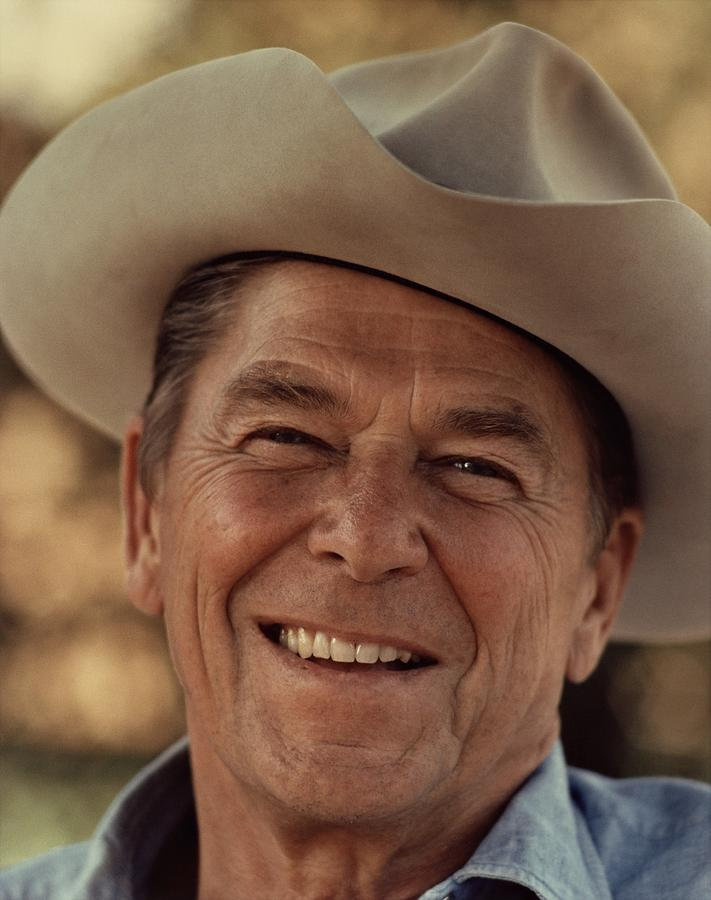 Regan Photograph - Ronald Reagan In 1976 At His Home At Rancho Del Cielo by Movie Poster Prints
