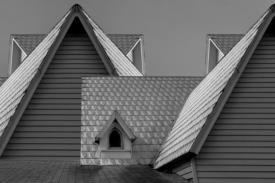 Church Photograph - Roof Lines by Debra and Dave Vanderlaan