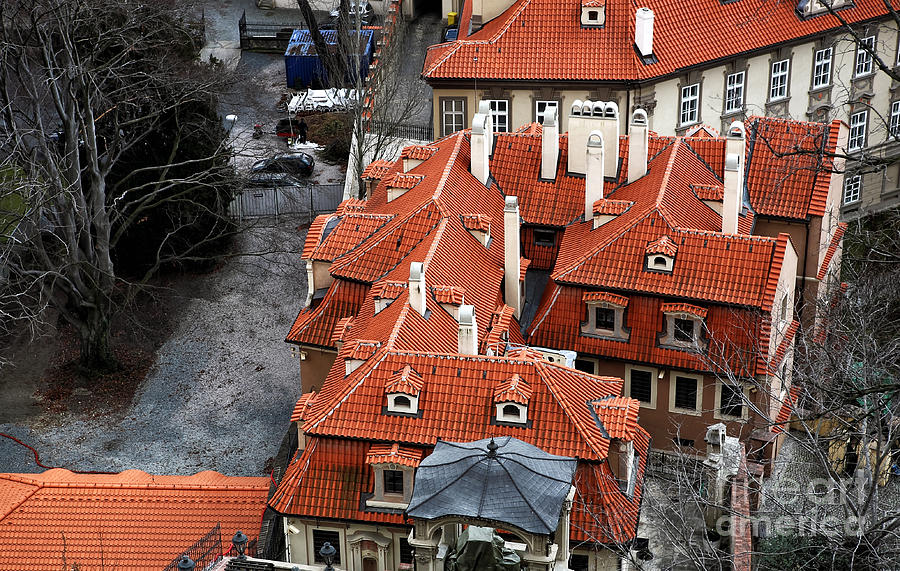 Roofs In Prague Photograph  - Roofs In Prague Fine Art Print