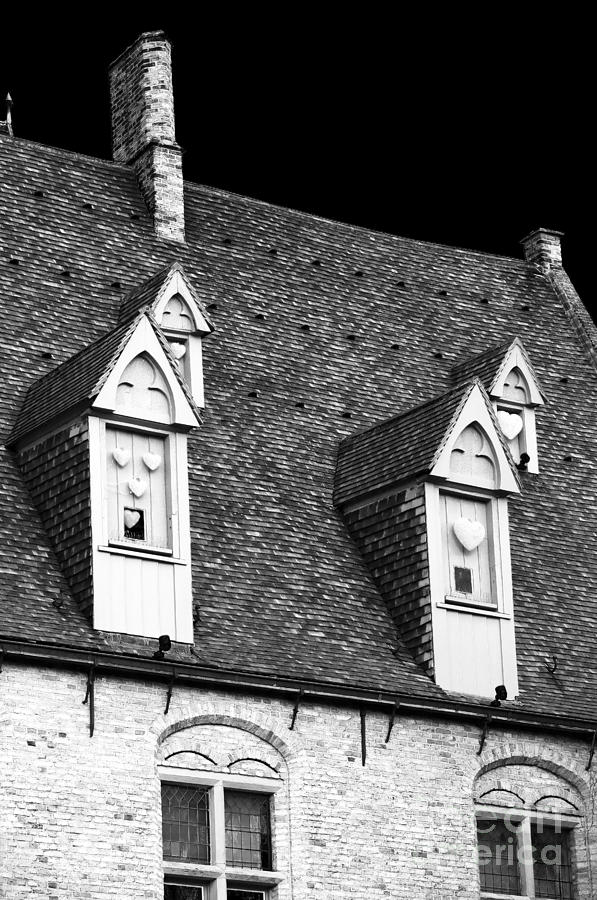 Rooftop View In Bruges Photograph