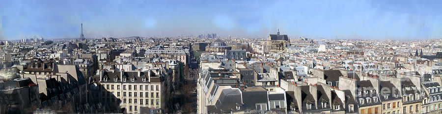 Aerial Photograph - Rooftops Of Paris by Thomas Marchessault