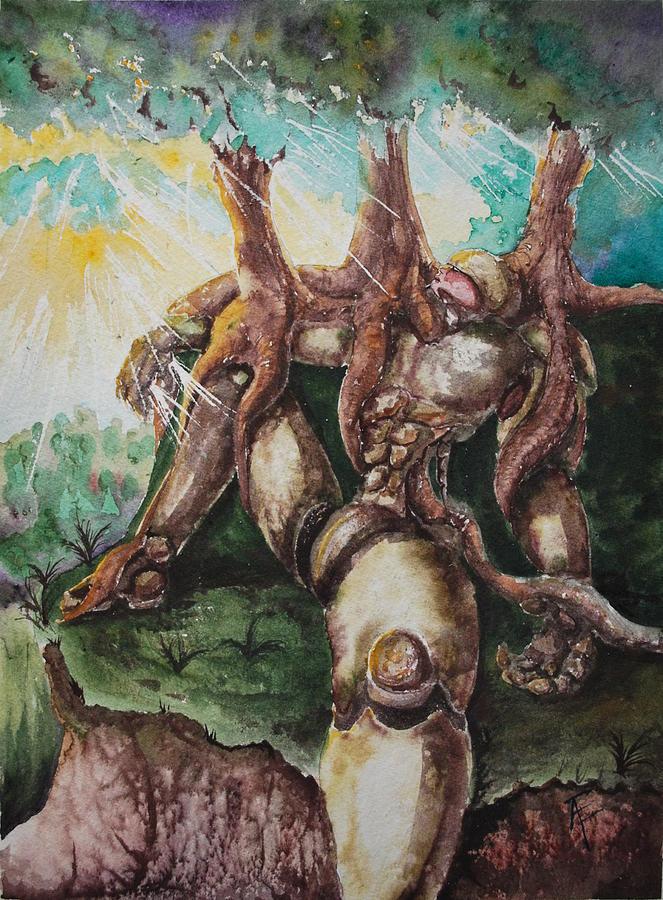 Tree Painting - Rootbound by Amanda Ellis