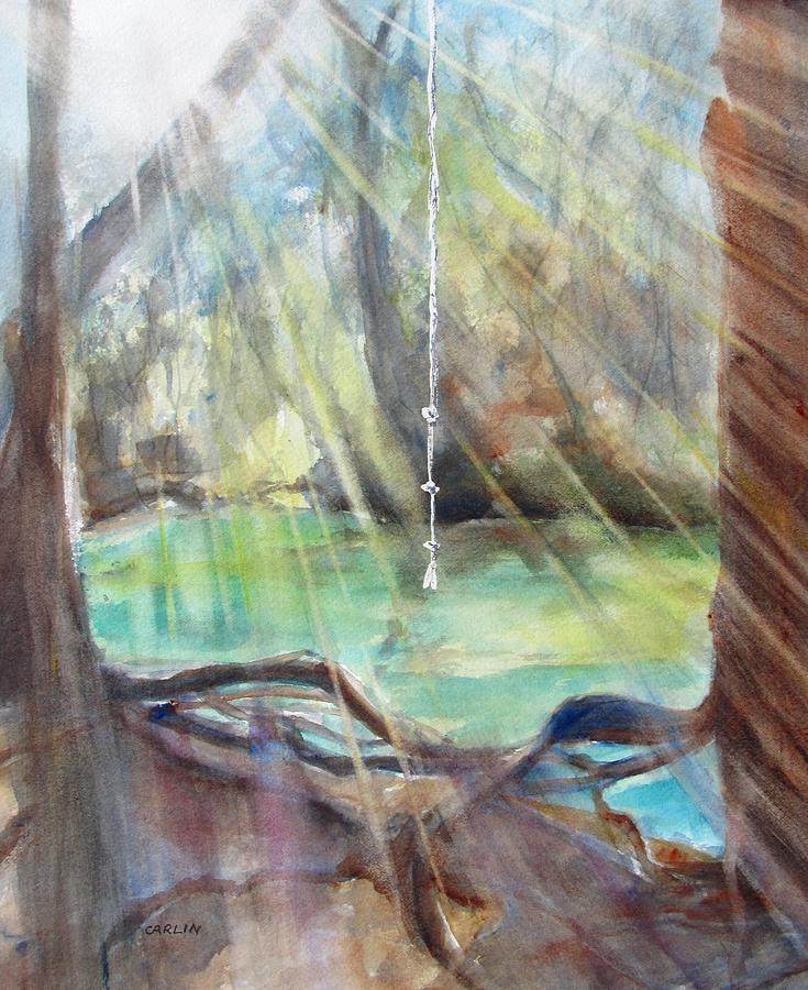 Rope Swing Painting  - Rope Swing Fine Art Print