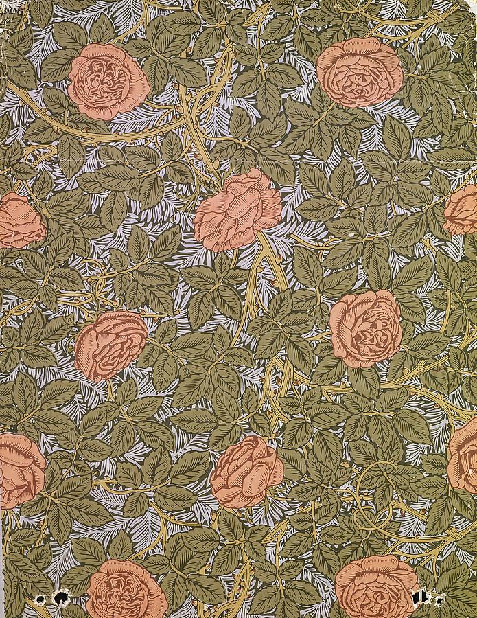 Rose 93 Wallpaper Design Tapestry - Textile