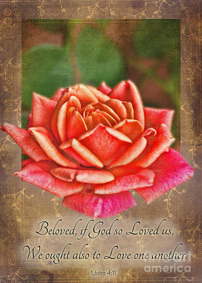 Rose Greeting Card With Verse Photograph