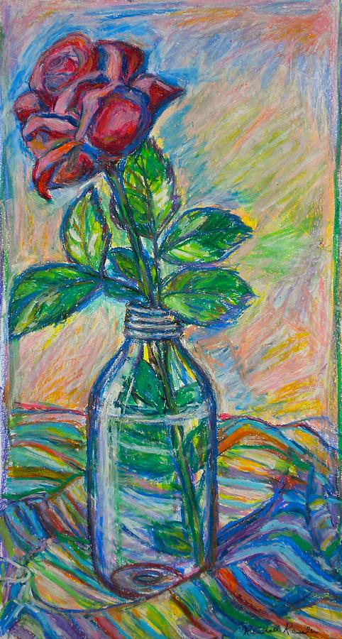 Rose In A Bottle Painting