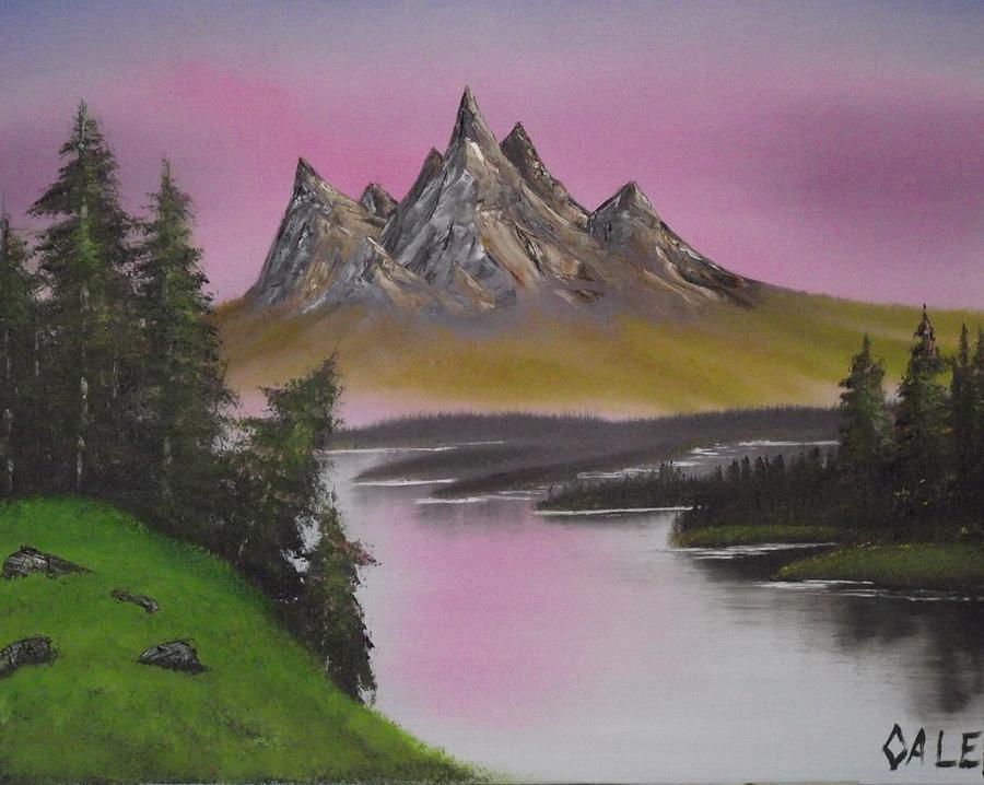 Rose Lake Painting