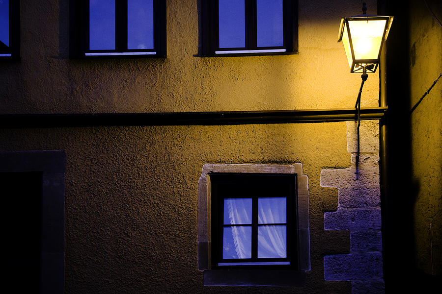 Night Photograph - Rothenburg By Night by Joanna Madloch