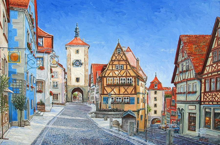 Rothenburg Germany Painting By Mike Rabe