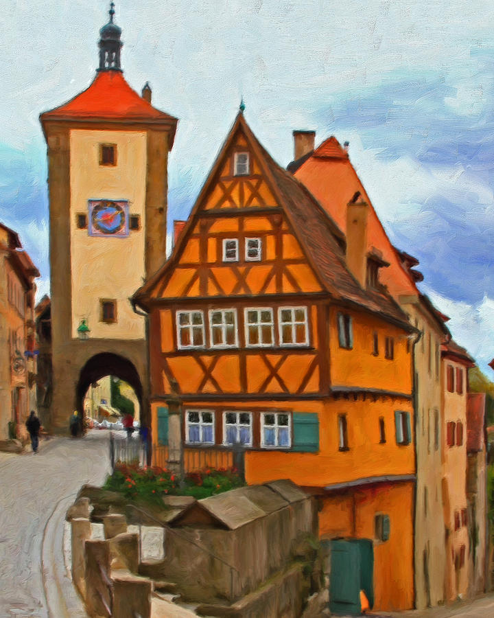 Rothenburg Painting  - Rothenburg Fine Art Print