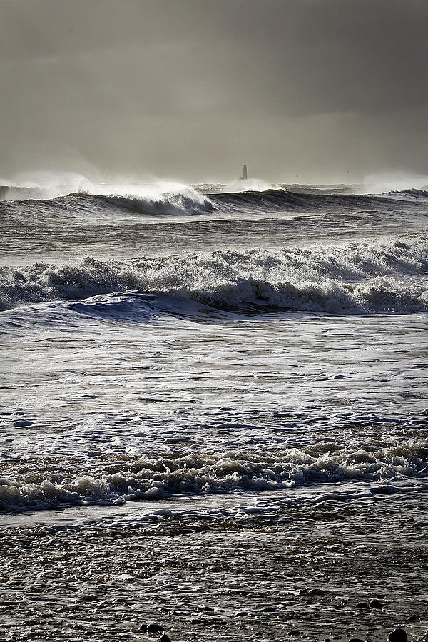 Rough Sea And Stormy Sky Photograph
