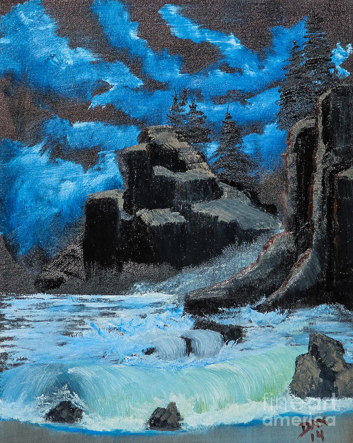 Landscape Painting - Rough Seas by Dave Atkins