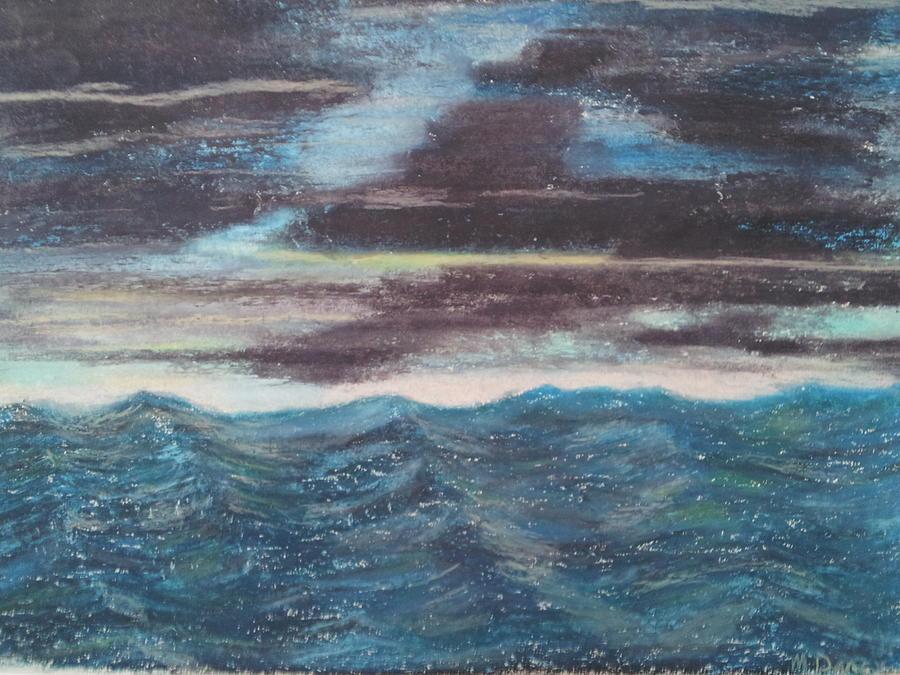 Sea Drawing - Rough Water by Michael Dancy
