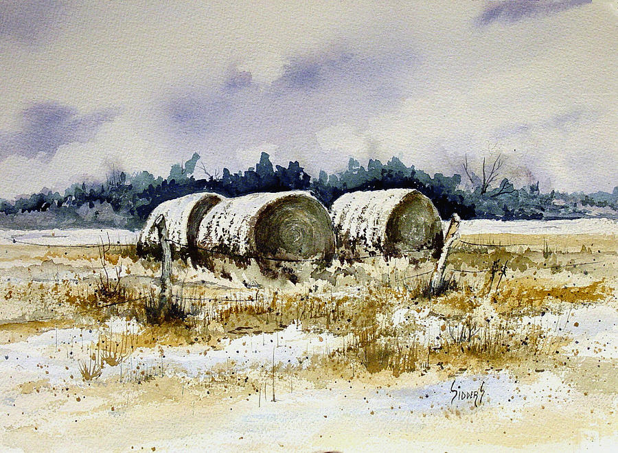 Bales Painting - Round Bales by Sam Sidders