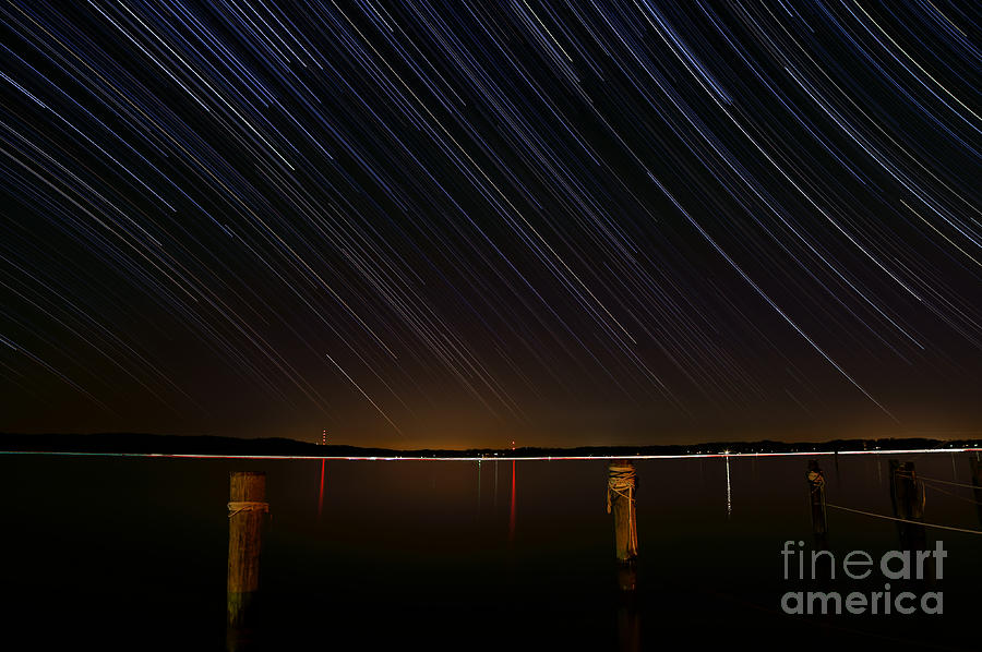 Round Bay Startrails Photograph  - Round Bay Startrails Fine Art Print