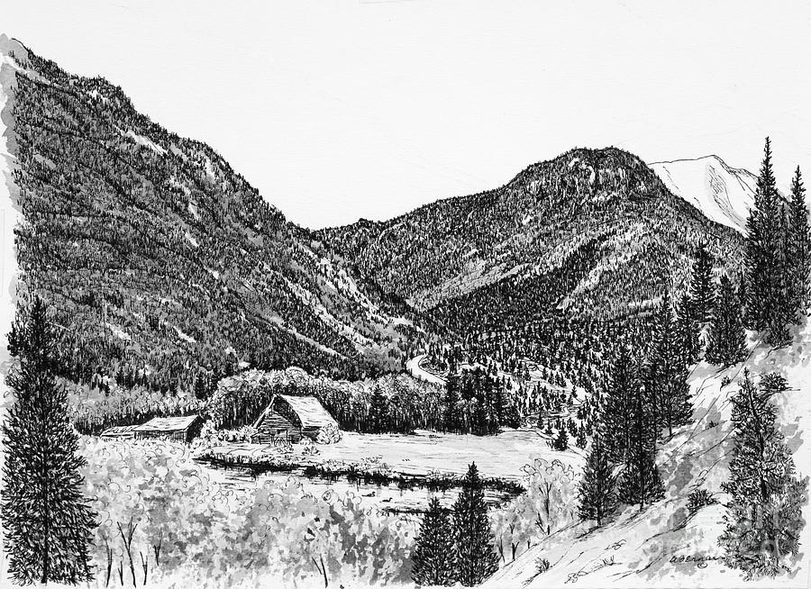 Round Mountain Drawing