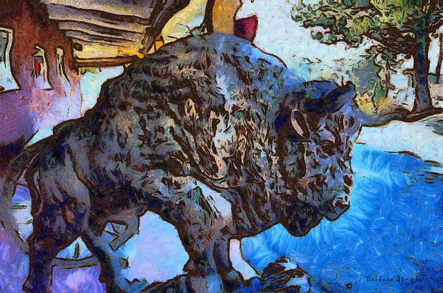 Round Up Market Buffalo Digital Art