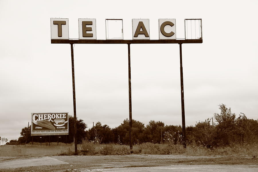 Route 66 - Abandoned Texaco Station Photograph  - Route 66 - Abandoned Texaco Station Fine Art Print