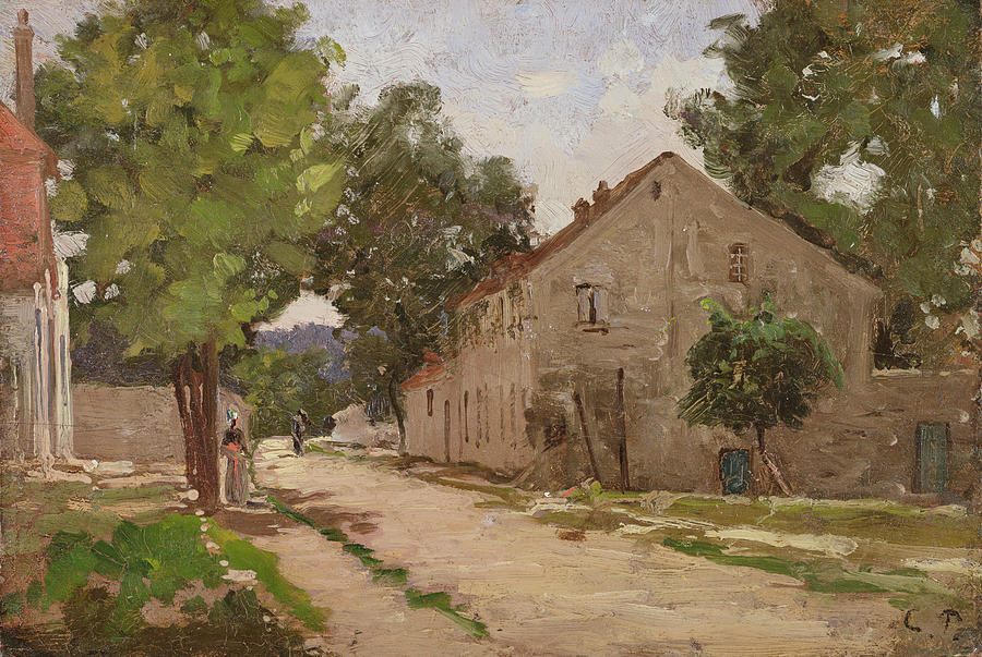Route De Port-marly, C.1860-67 Painting