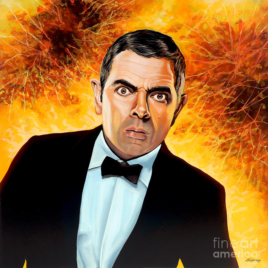 Rowan Atkinson Painting - Rowan Atkinson Alias Johnny English by Paul Meijering