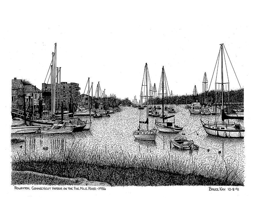 Rowayton Harbor Drawing