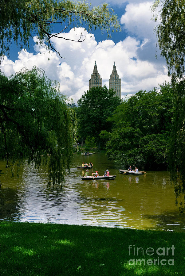 Rowboats Central Park New York Photograph  - Rowboats Central Park New York Fine Art Print