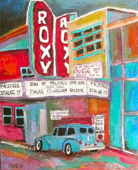 St. Agathe Painting - Roxy Theatre St. Agathe by Michael Litvack