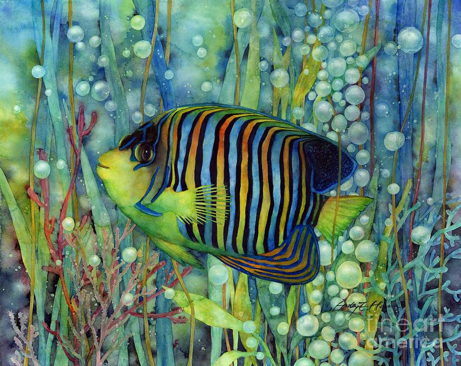 Royal Angelfish Painting by Hailey E Herrera