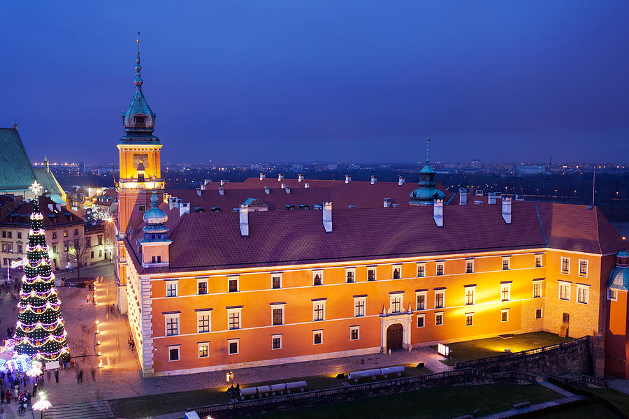 Royal Castle In Warsaw At Night Photograph  - Royal Castle In Warsaw At Night Fine Art Print