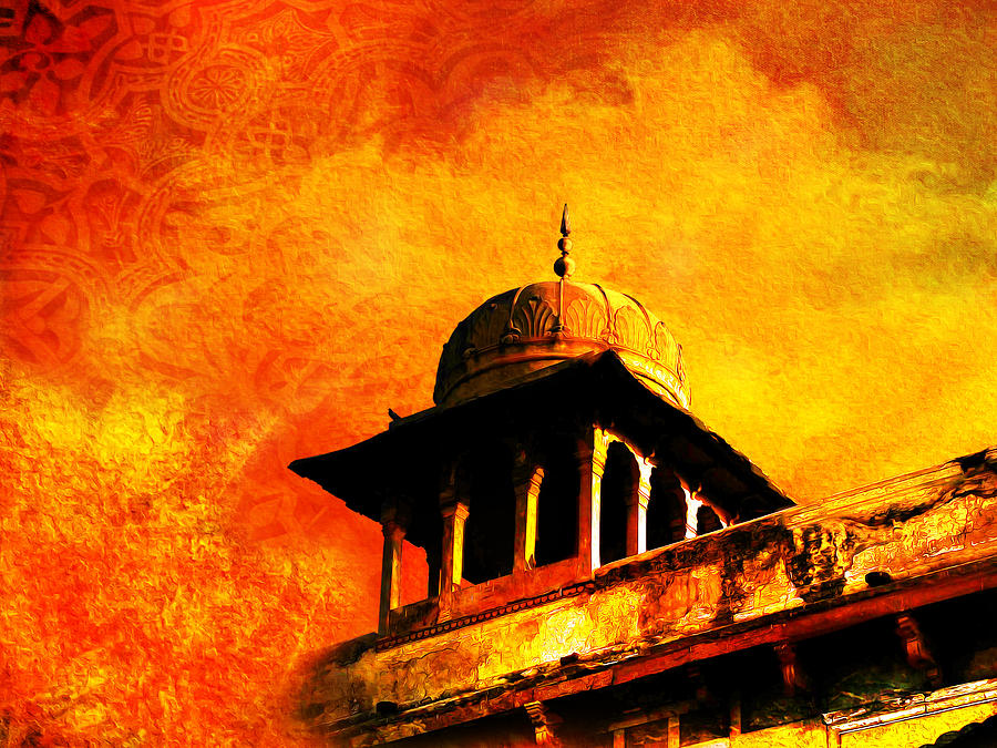 Pakistan Painting - Royal Fort 01 by Catf