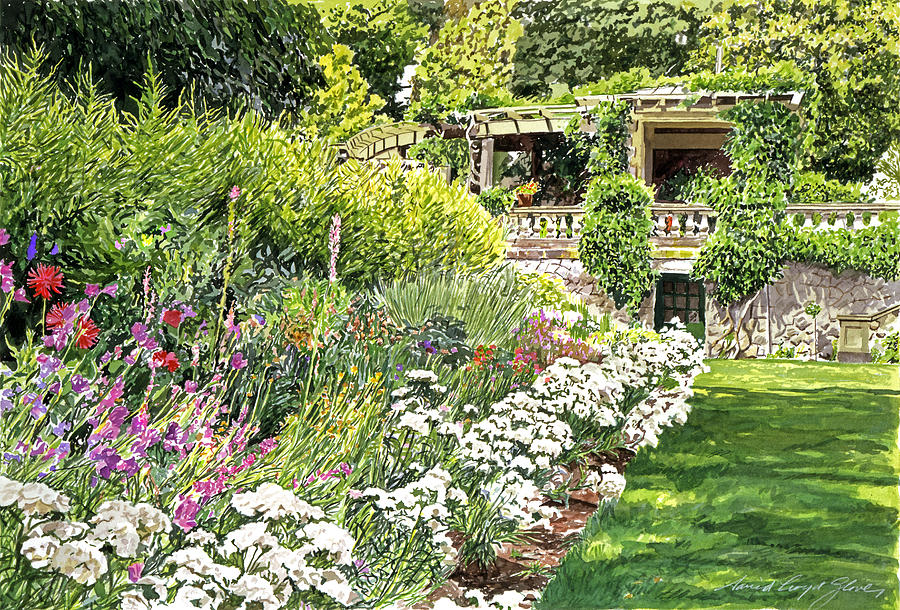 Royal Garden Painting  - Royal Garden Fine Art Print