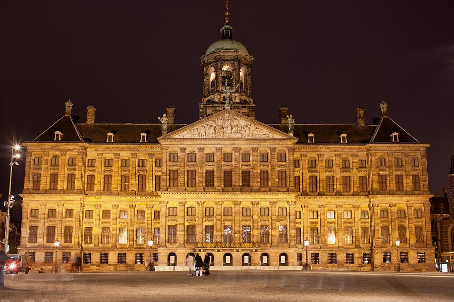Royal Photograph - Royal Palace In Amsterdam At Night by Artur Bogacki