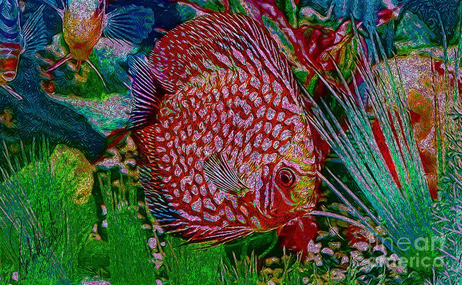 Royal Purple Discus Fish Painting