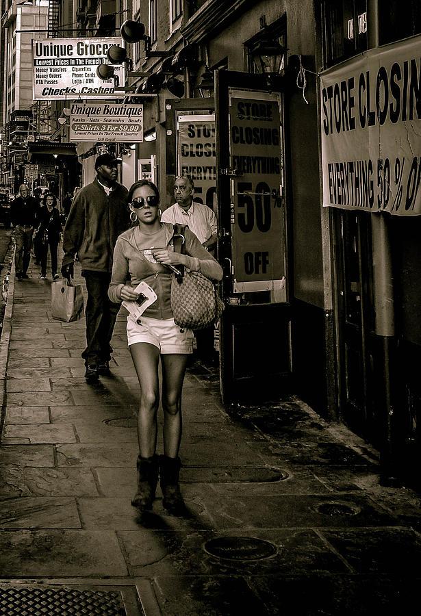 Street Scene Photograph - Royal Street Scene In New Orleans by Louis Maistros