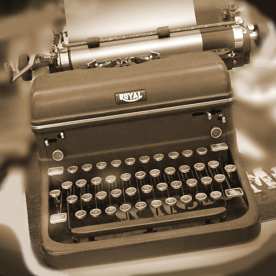 Royal Typewriter Photograph  - Royal Typewriter Fine Art Print