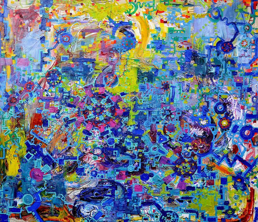 Rube Goldberg Abstract Painting