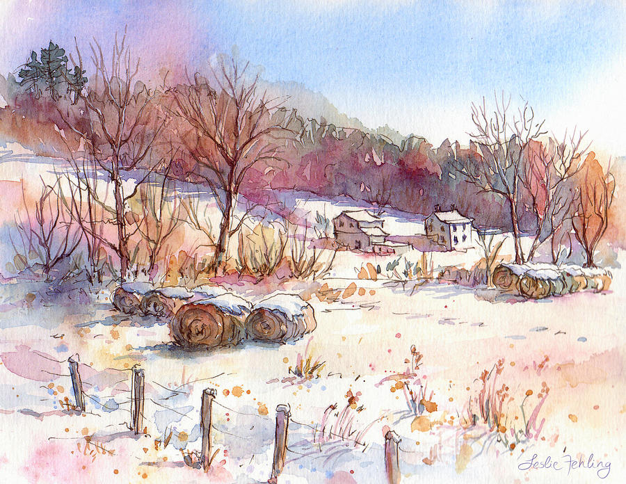 Ruff Creek Winter Painting  - Ruff Creek Winter Fine Art Print