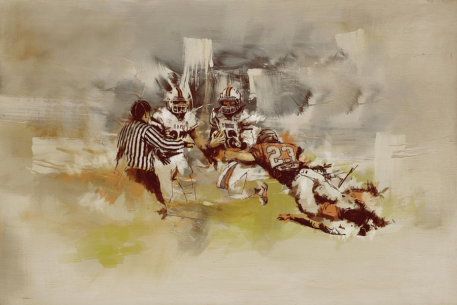 Rugby is a painting by Corporate Art Task Force which was uploaded on ...