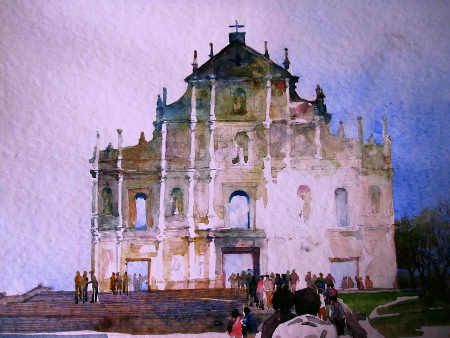 Macau Painting - Ruinas De Sao Paulo by V  Reyes