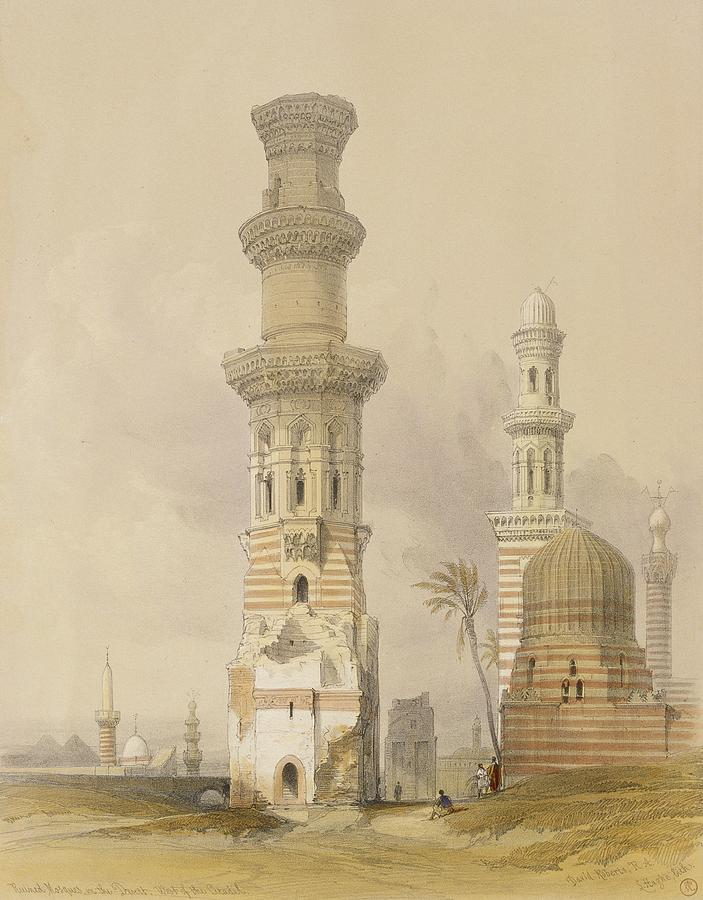 Ruins Painting - Ruined Mosques In The Desert by David Roberts