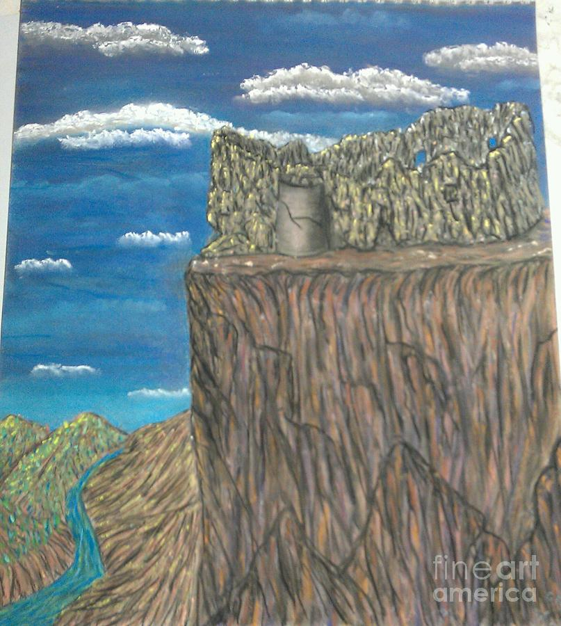Castle In Ruins Pastel - Ruins by Greg Wardle