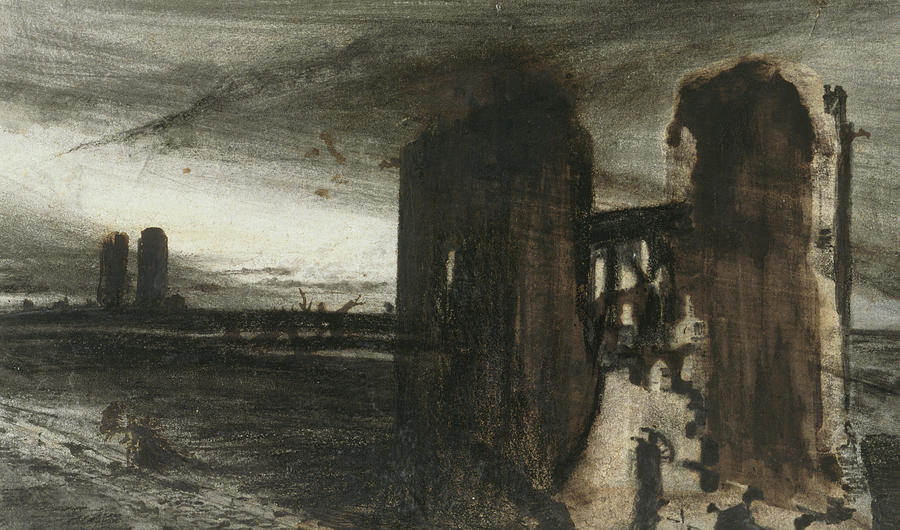 Ruins In A Landscape Painting