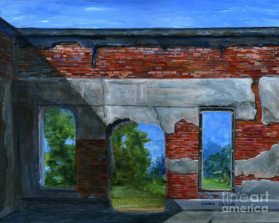 Art Painting - Ruins In Pleaant Hill by Lenora  De Lude