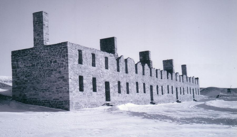 Ruins In Winter Photograph