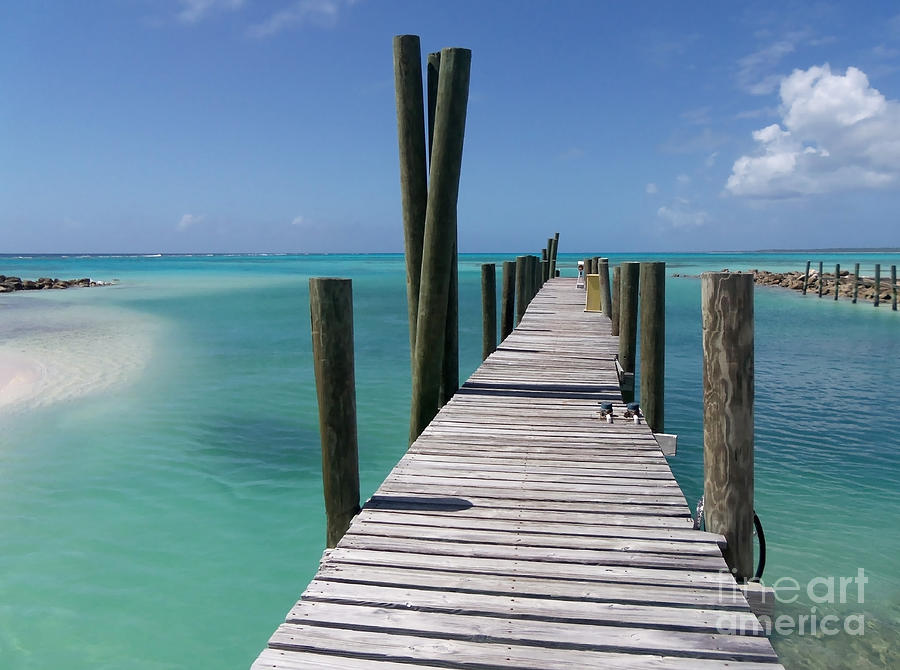 Rum Cay Marina Jetty In Bahamas Photograph